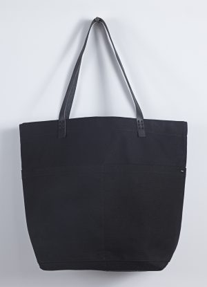 Heavy Canvas Carry All Bag in Black