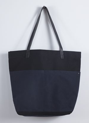 Heavy Canvas Carry All Bag in Black with Midnight