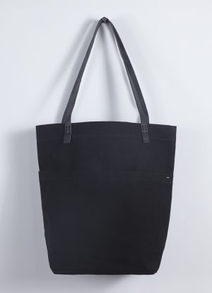 Heavy Canvas Market Bag in Black