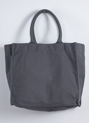 Washed Relaxed Heavy Canvas Tote in Charcoal