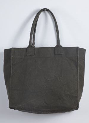 Washed Relaxed Heavy Canvas Tote in Green