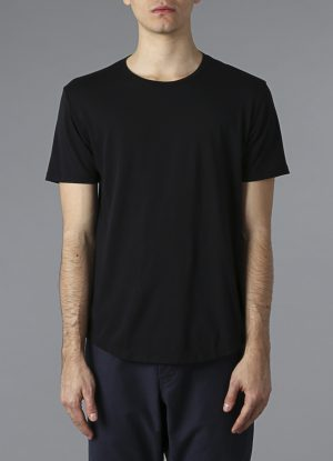 Hand Dyed Pigment Crew Tee In Black