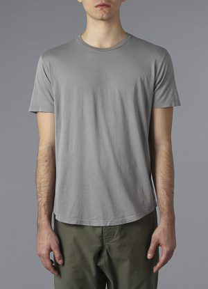 Hand Dyed Pigment Crew Tee In Fog