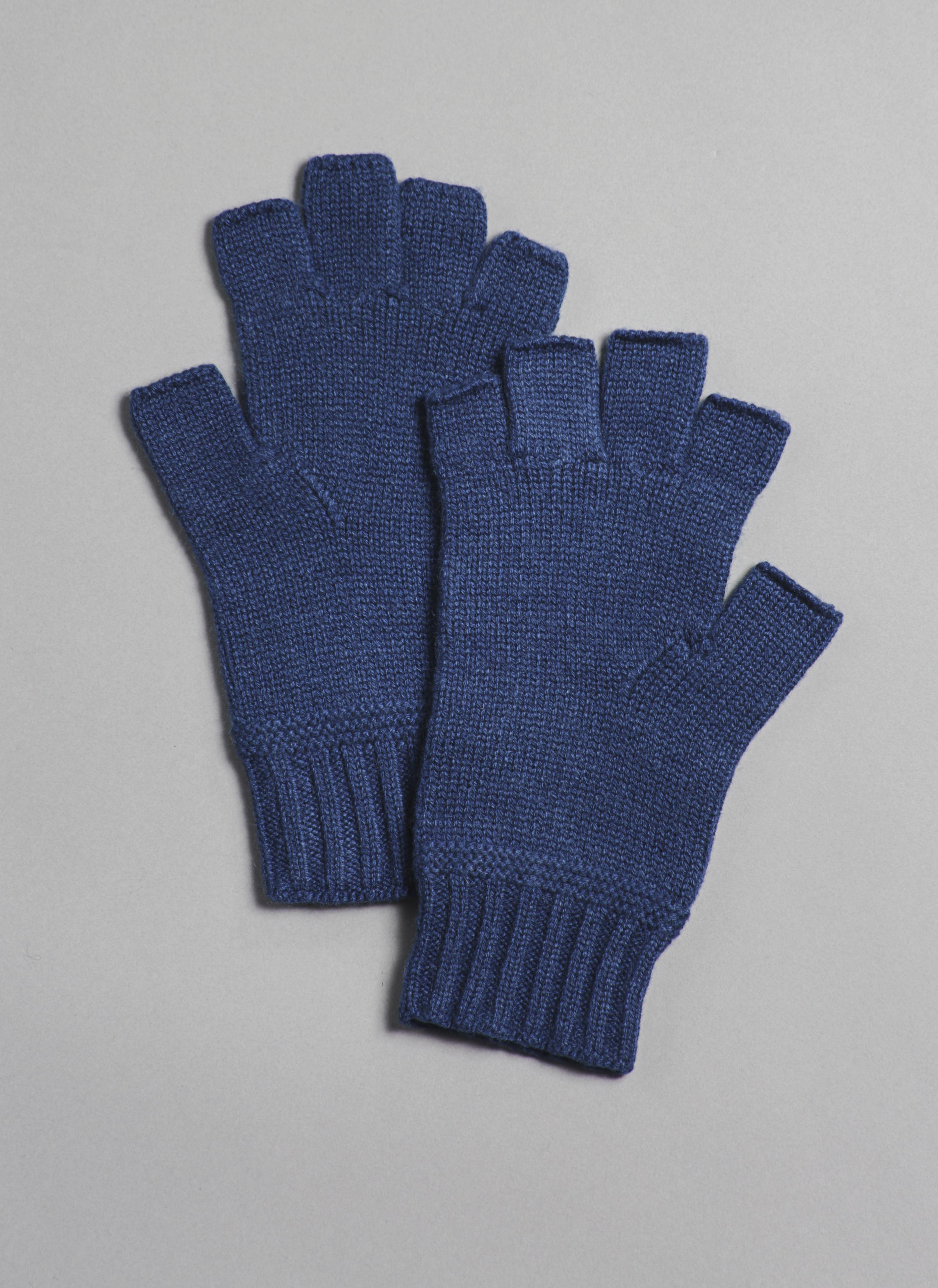 e1063862d0347 Cashmere Fingerless Gloves in Denim - GREI New York