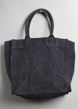 Washed Heavy Canvas Relaxed Tote in Indigo
