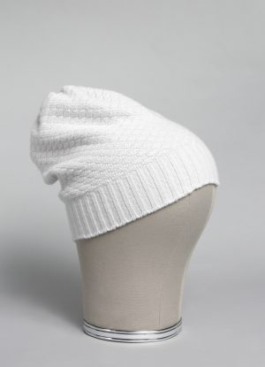 Cashmere Slouchy Beanie in Stone