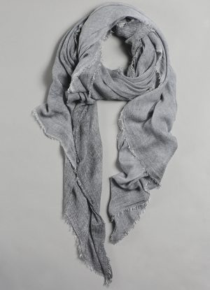 Italian Cold Dyed Scarf in Muddled Fog