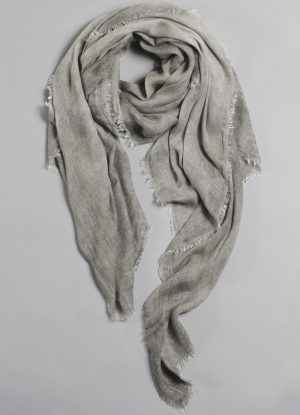 Italian Cold Dyed Scarf in Muddled Putty