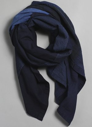 Patchwork Scarf in Indigo