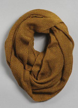 Silk Cashmere Circular Scarf in Bronze