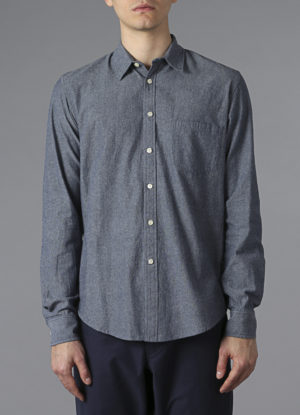 Long Sleeved Button Down In Chambray