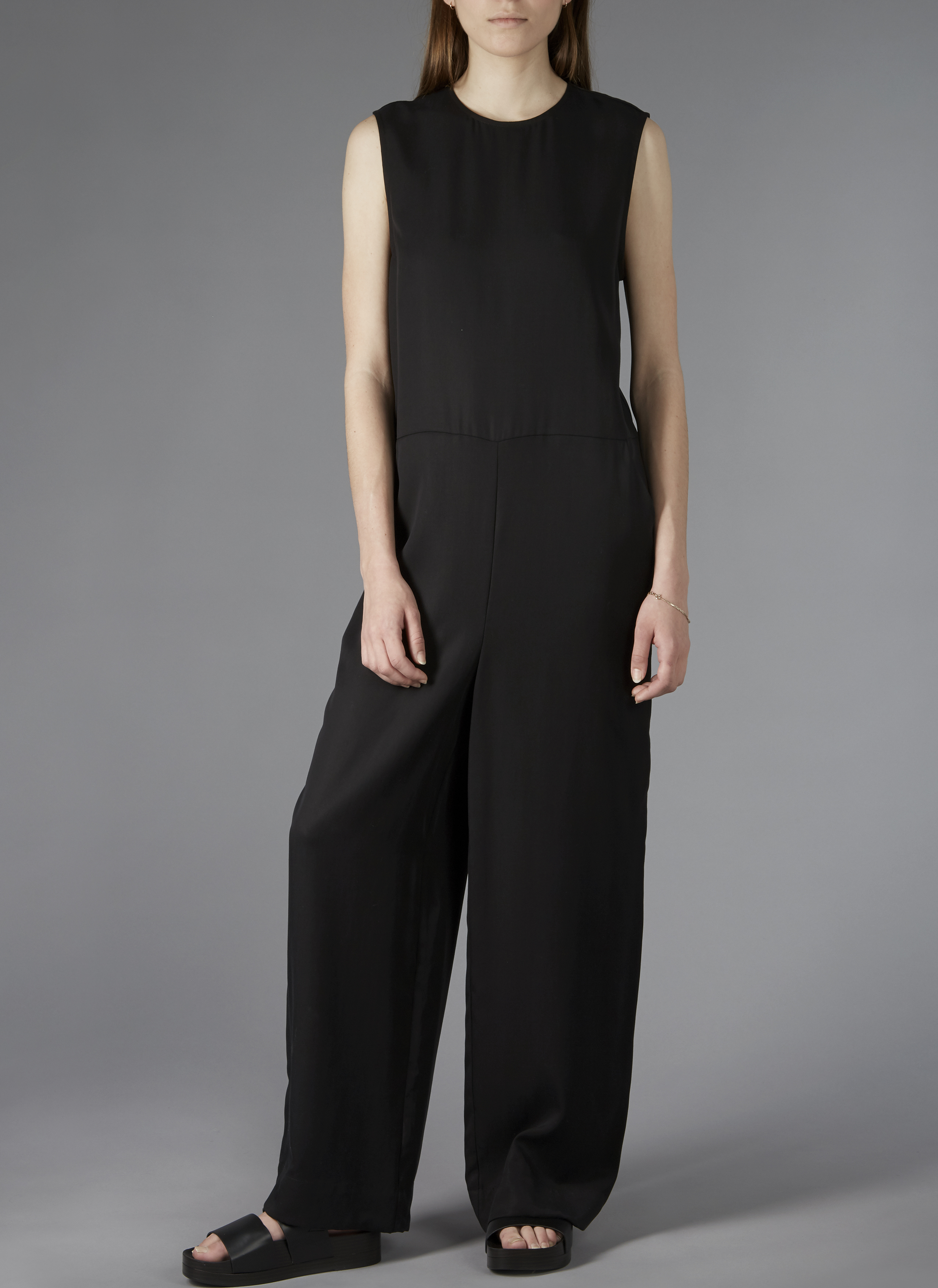 f532f3f2aefe Sleeveless Wide-Leg Jumpsuit In Black - GREI New York